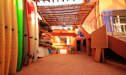 Surf equipment and storage space