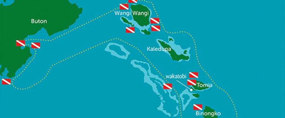 wakatobi dive map