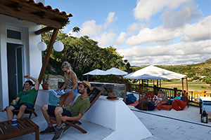 Foz do Lizandro Surf Camp's Terrace
