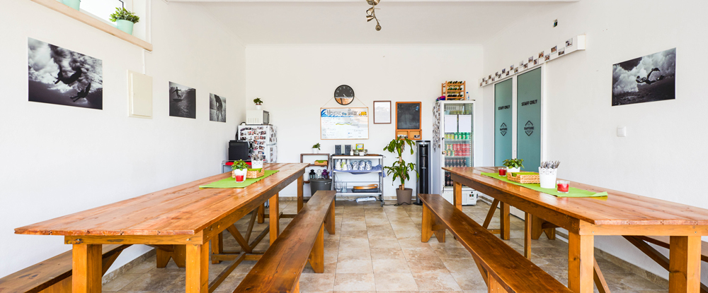 Foz do Lizandro Surf Camp's Dinning Room