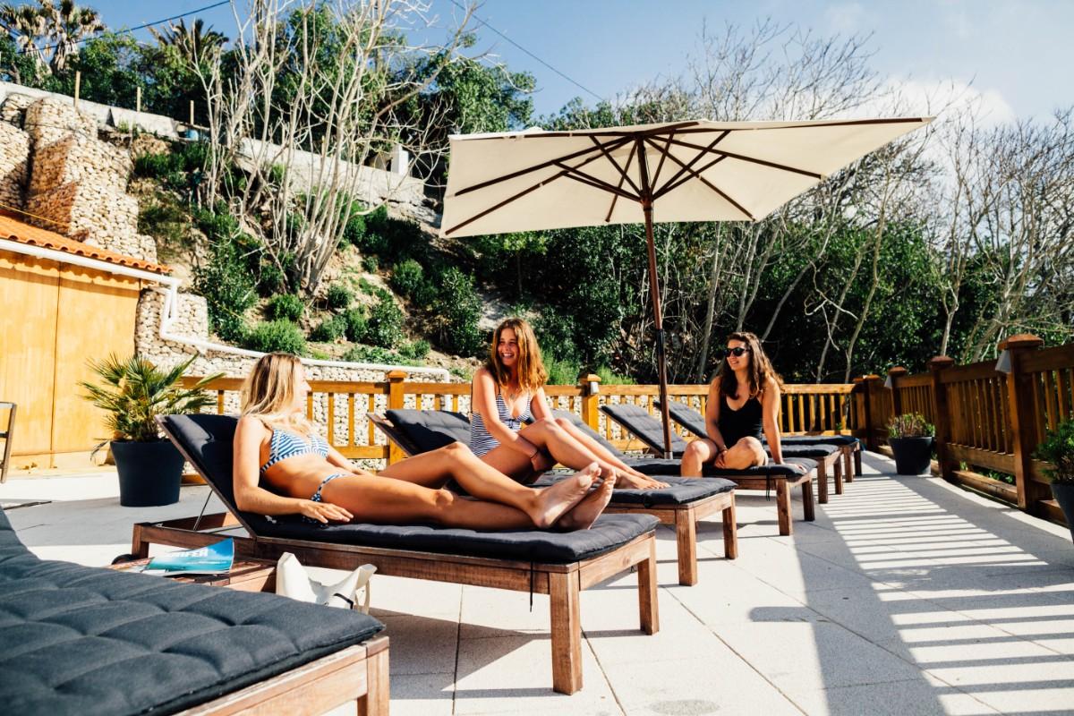 Foz do Lizandro Surf Camp's Terrace