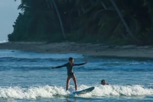 Beginners Surfing at Lance's Left Mentawai