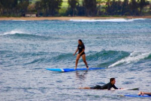 Surf lessons at Puaena Point Beach