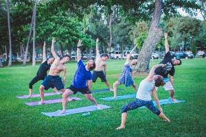 Yoga at Oahu Surf Camp