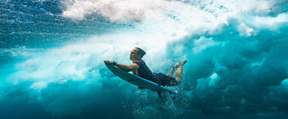Ducking under the wave