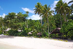Facade of Beachfront Resort in Fiji