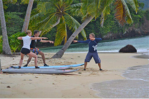 Surf lessons at the Resort in Fiji