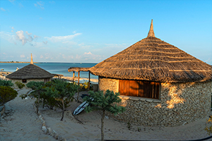 Bungalow at a resort in Madagascar