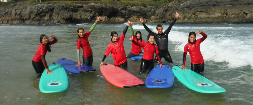Cantabria Exclusive High Quality Teens Surf Camp Group