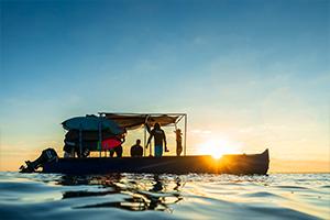 Surf boat trip in Madagascar
