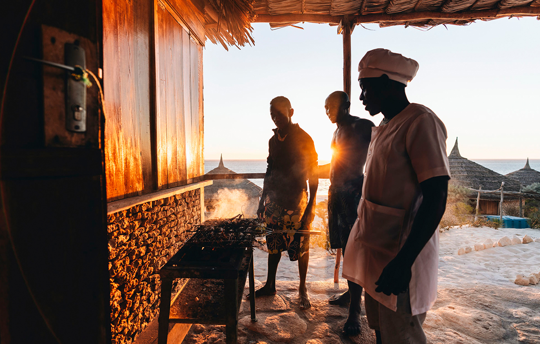 Cooking dinner in Madagascar