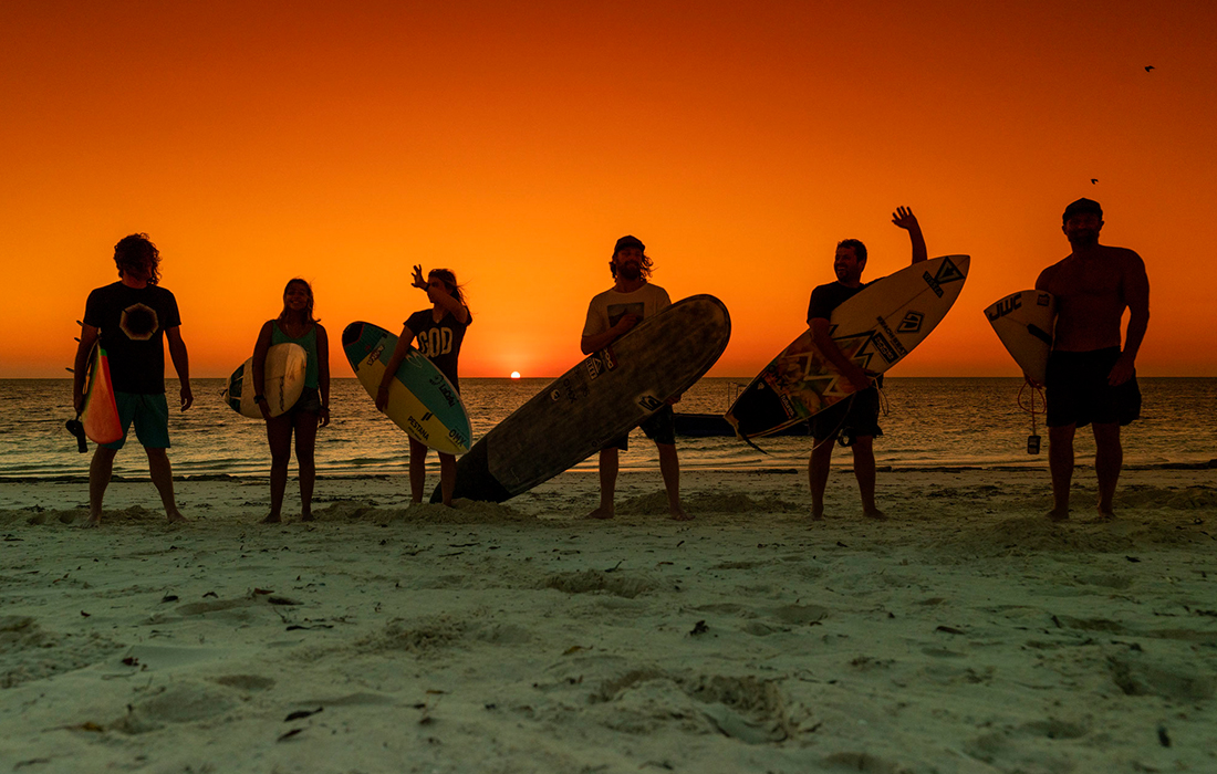 Sunset with friends in Madagascar