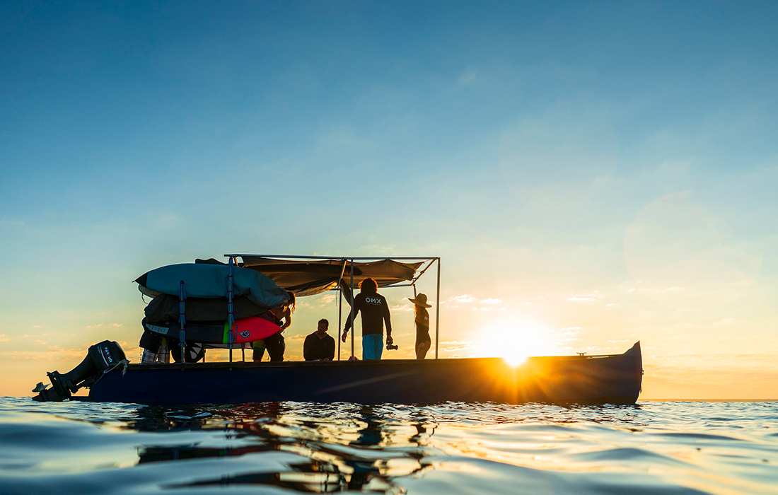 Surf boat trip