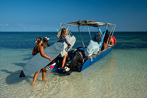 Surf coaching boat trip in Madagascar