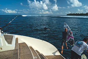 Surf coaching in the Maldives