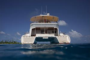 Ocean catamaran in the Maldives