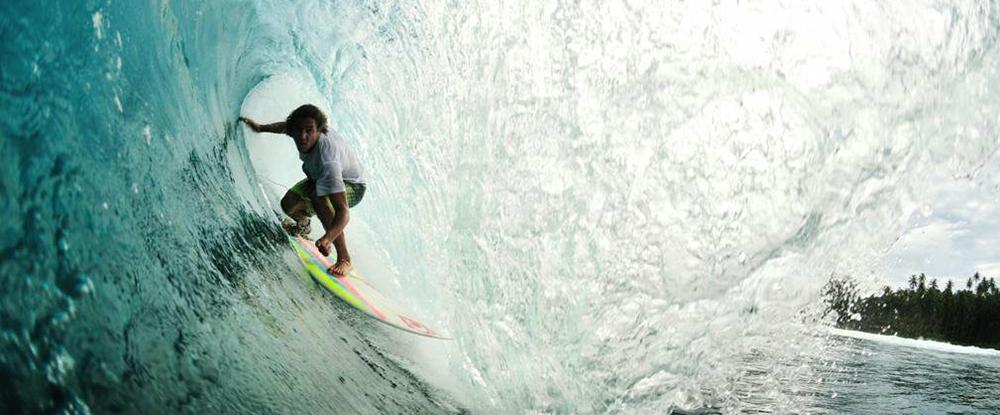 Surf Coaching in a barrel