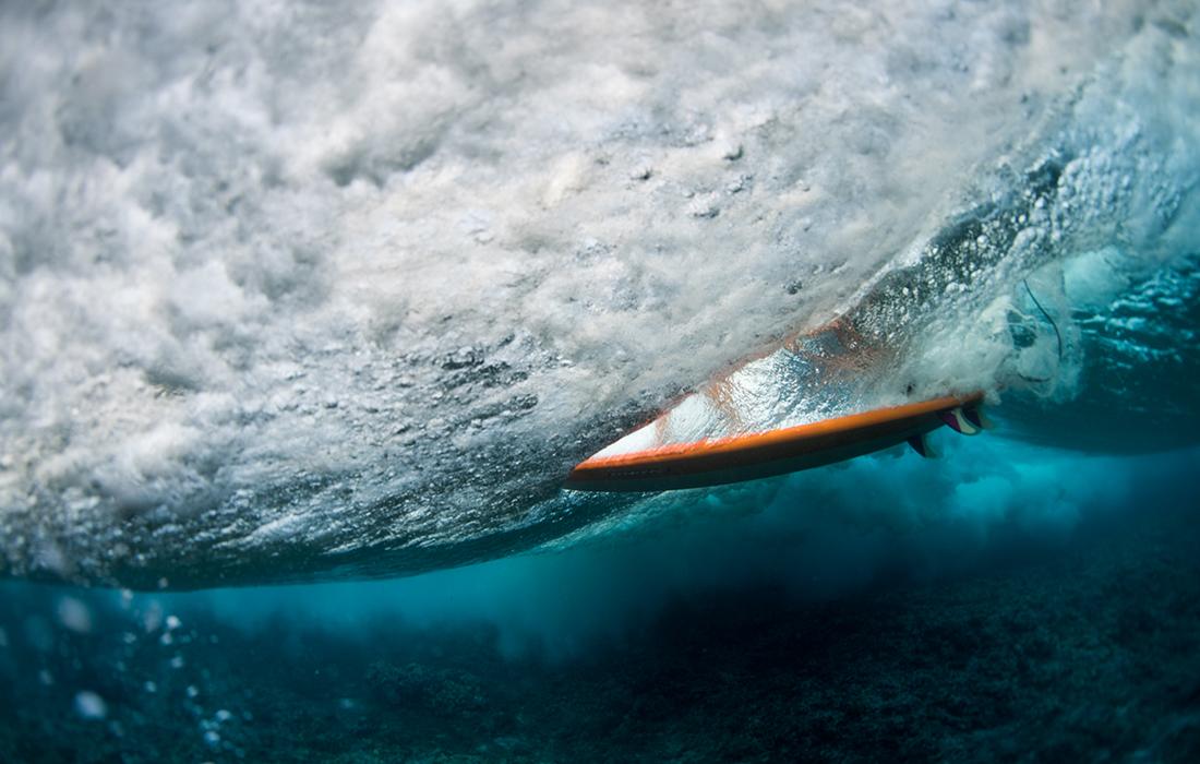 Surf coaching duck dive