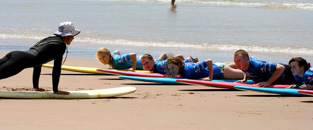 Surf coaching in France